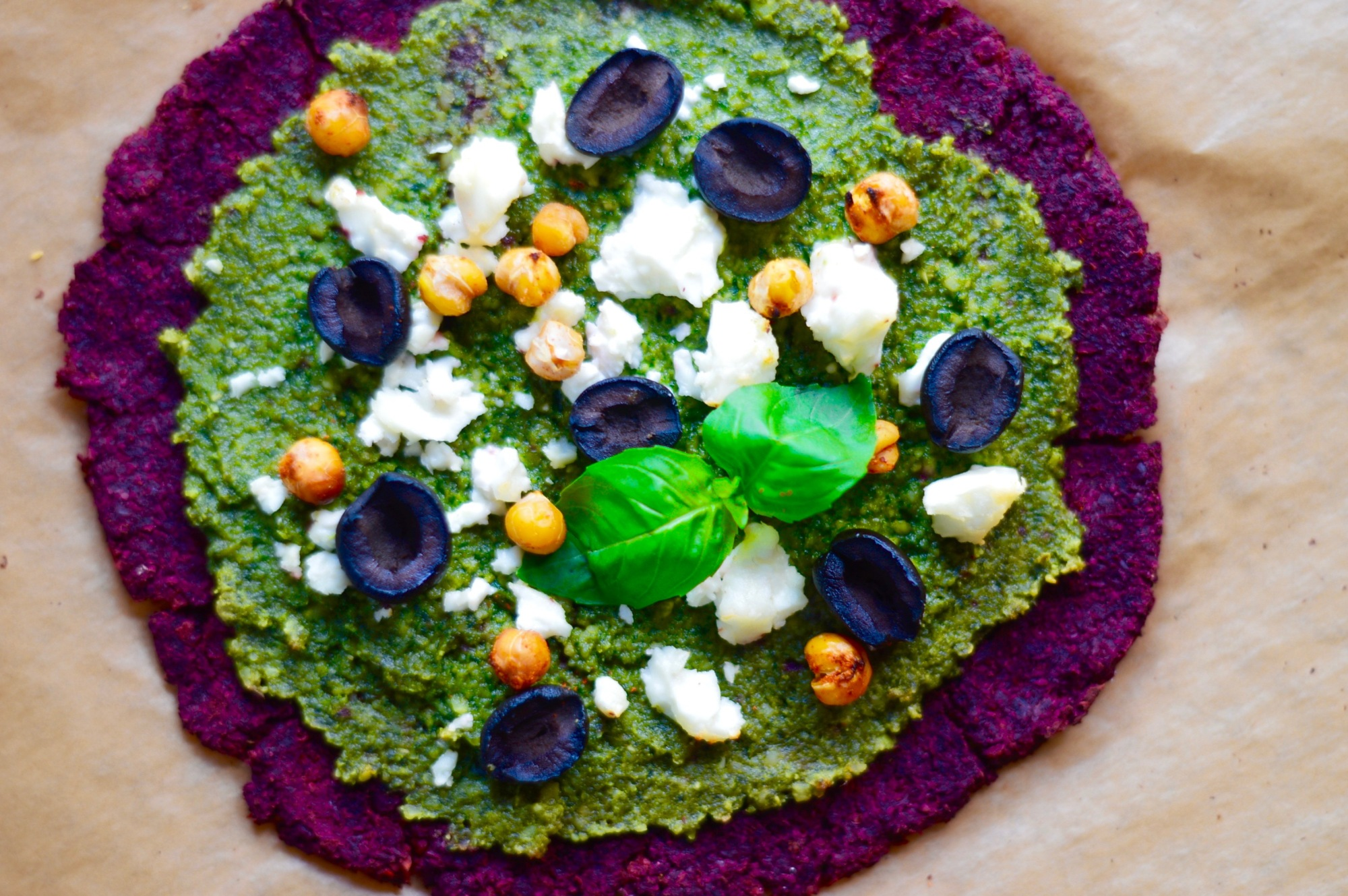 Stacey HOGAN healthy beetroot pizza