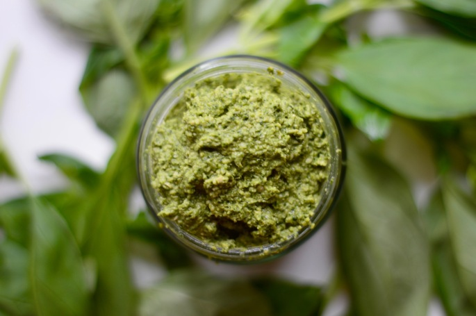 stacey hogan healthy cashew pesto