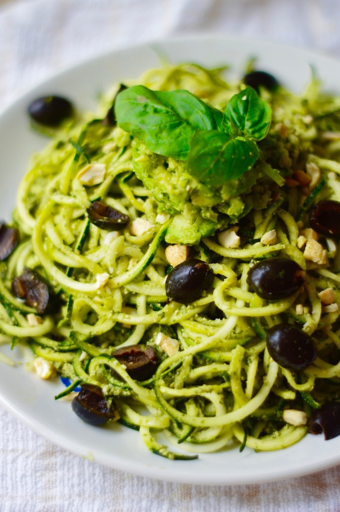 Stacey Hogan Courgette noodles and pesto