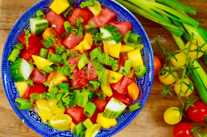 Stacey Hogan Summer Watermelon Mango Salad