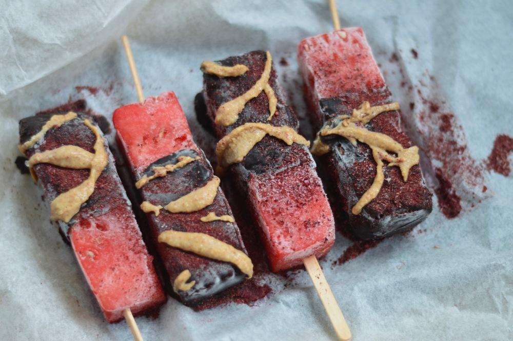 stacey hogan - healthy watermelon ice lollies
