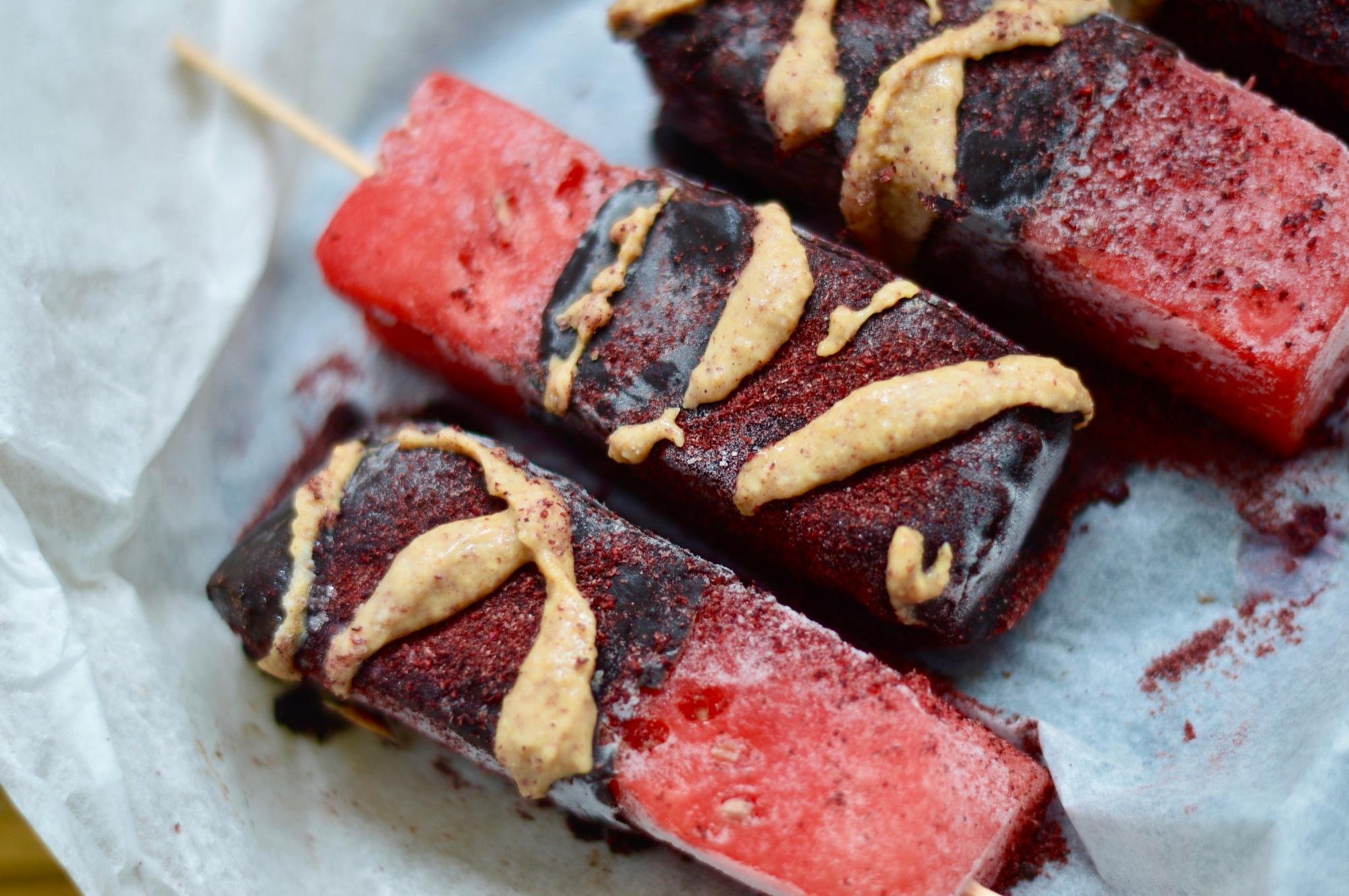 tacey Hogan - watermelon ice lollies