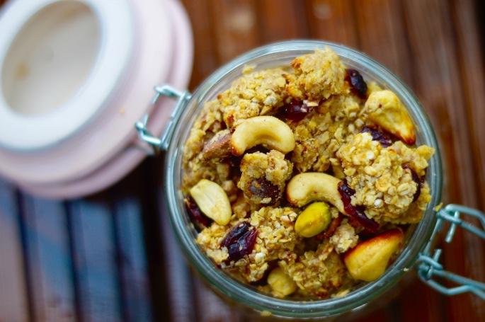 Stacey Hogan 21 day fix vegan oat cluster cereal recipe